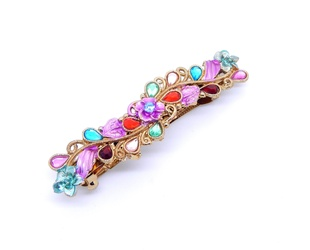 Rhinestone Barrette Hair Clip - Madison