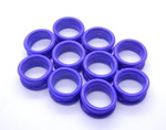 The Scissor Boutique - Finger Ring Insert Purple (Pack of 10)